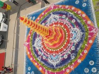 giant rangoli display at bhopal's db mall