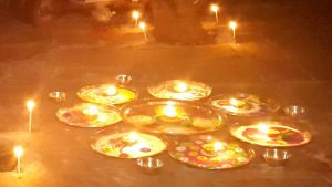 Rangoli-lit-up